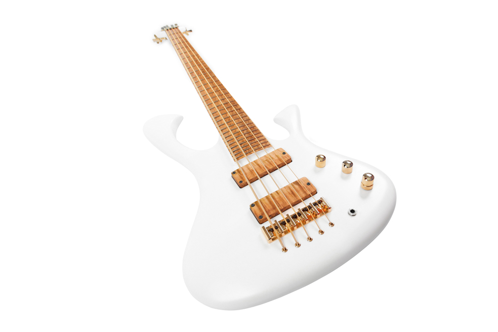 "Custom E-Bass Apollon 5 String ""White Eyes"""