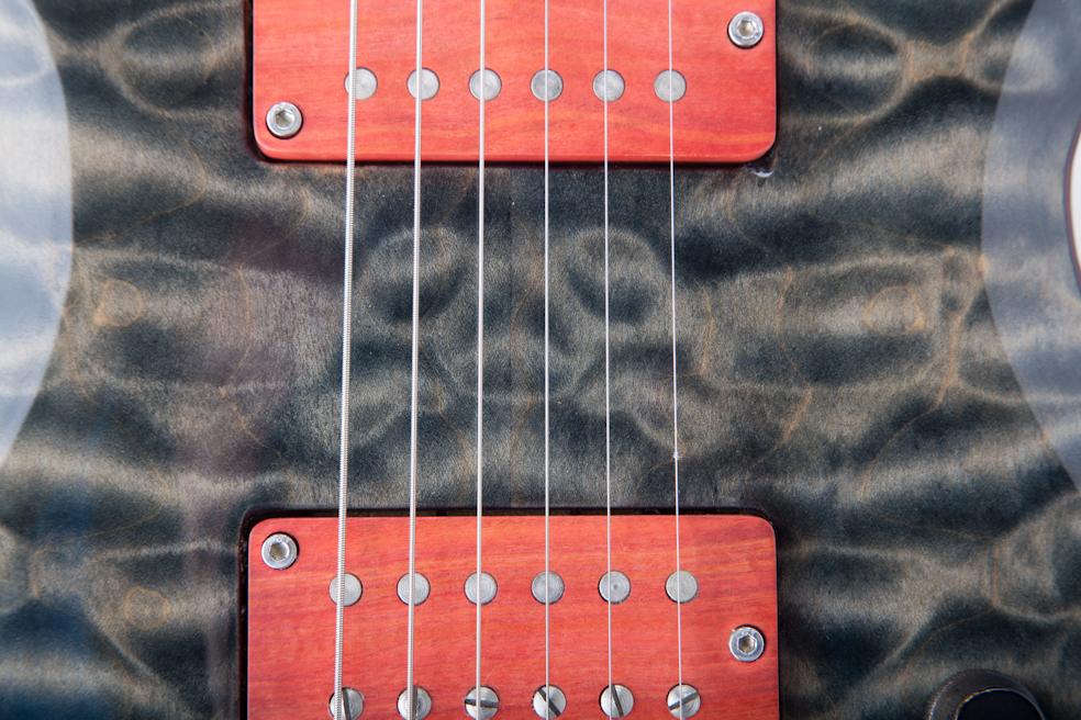 Custom E-Gitarre Ares 6 String, Punk Ivory