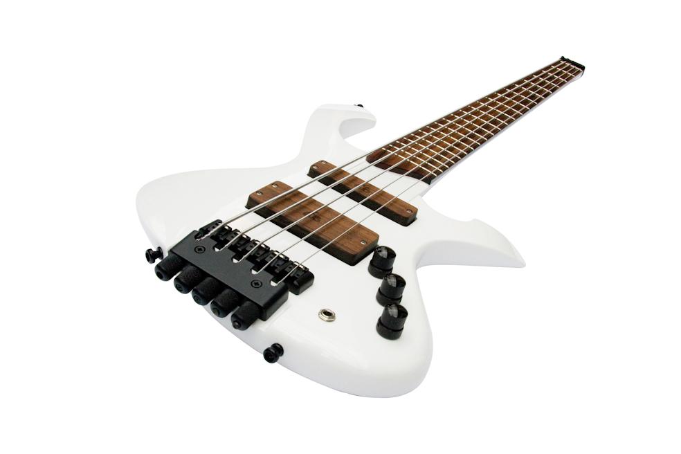 Custom-Order E-Bass The headless white