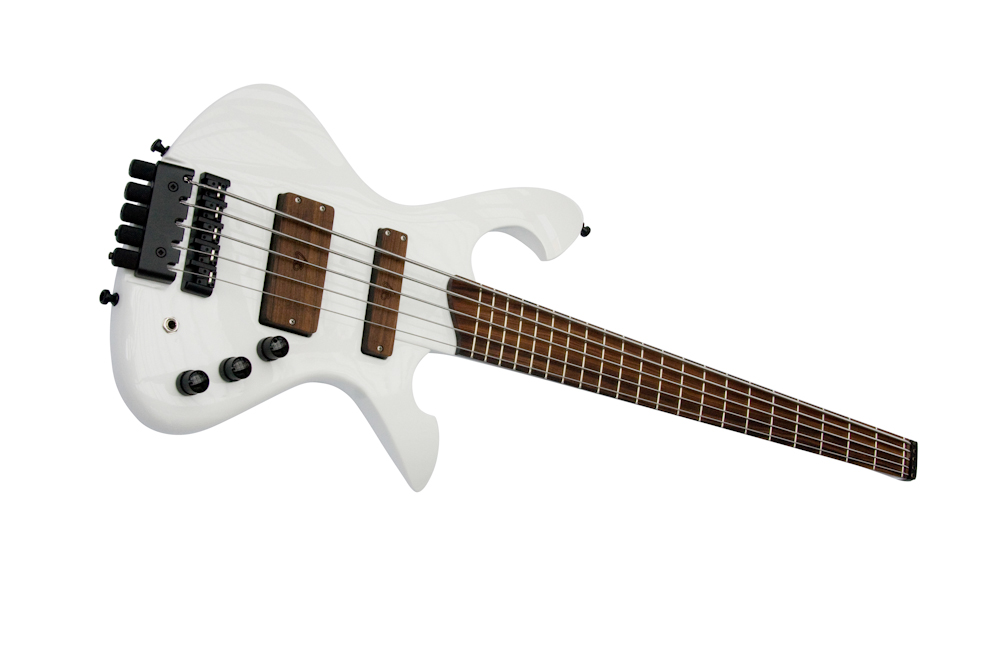 Custom-Order E-Bass The headless white