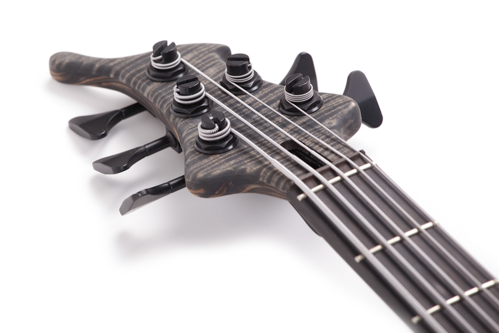 Custom E-Bass Kronos 5 String Black Ax